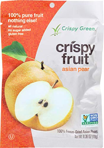 Crockery Gourmet Crispy Green Crispy Freeze Dried Pear, 0.36 oz