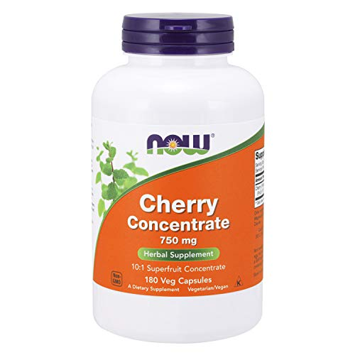 Now Supplements, Cherry Concentrate (Prunus Serotina)750 Mg, 10:1 Fruit Concentrate, 180 Veg Capsule