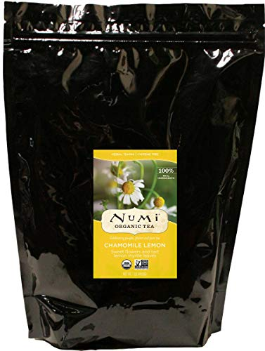 Numi Organic Tea Chamomile Lemon, 16 Ounce Pouch, Loose Leaf Herbal Teasan (Packaging May Vary)