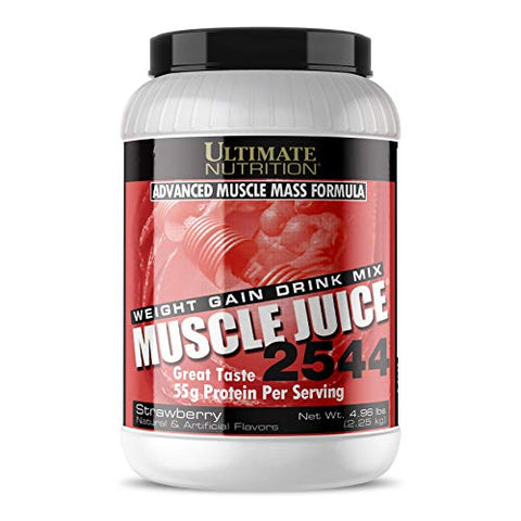 Ultimate Nutrition Muscle Juice 2544 Classic Gainer Protein (Strawberry, 5 Pounds)