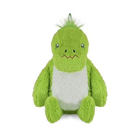 Hot Water Bottle with Novelty Plush Warm Cosy Luxuriously Super Soft Cover Premium Natural Rubber 1 Liter Bag (Green Dinosaur)
