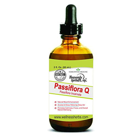 Passiflora Q (Passiflora Incarnata) Mother Tincture - Passionflower - Natural Mood Enhancement. Anxiety & Stress Relieving Sleep Aid. Promotes Calmness, Focus, and Overall Mental Well-Being. 2 Fl. Oz