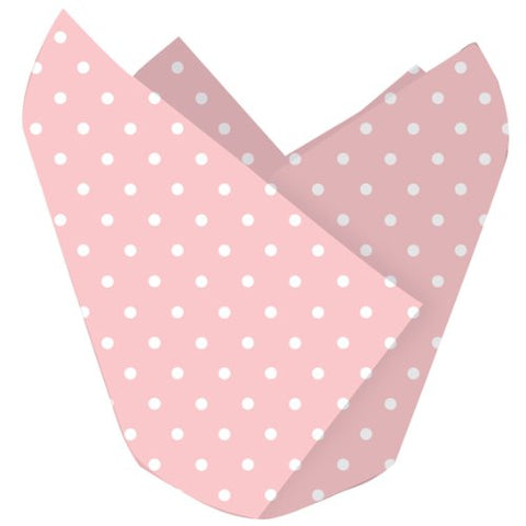 Creative Converting 226251 Classic Pink with White Polka Dots Cupcake Wrappers Party Accessory
