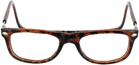CliC Ashbury Single Vision Full Frame Designer Reading Glasses, Tortoise, +3.00