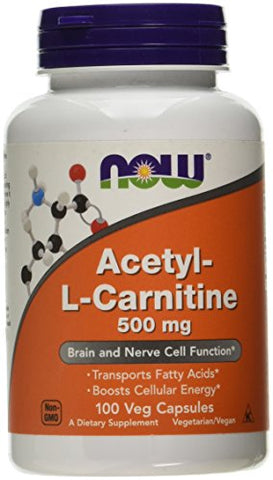 Now Foods - Acetyl-L Carnitine, 500 mg, 100 Vcaps