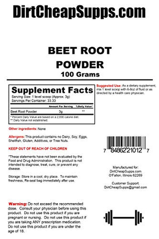 DirtCheapSupps Beet Powder 100g