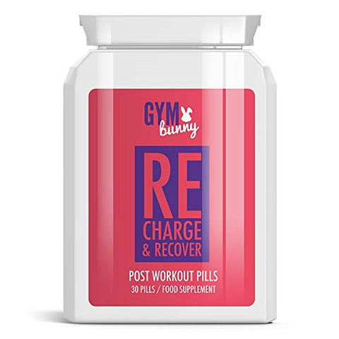 Gym Bunny Recharge & Recover Post Workout Pills  Muscle Building GET Toned