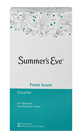 Summer's Eve Douche | Fresh Scent | 4-4.5 oz Size | Pack of 6 | pH Balanced & Gynecologist Tested