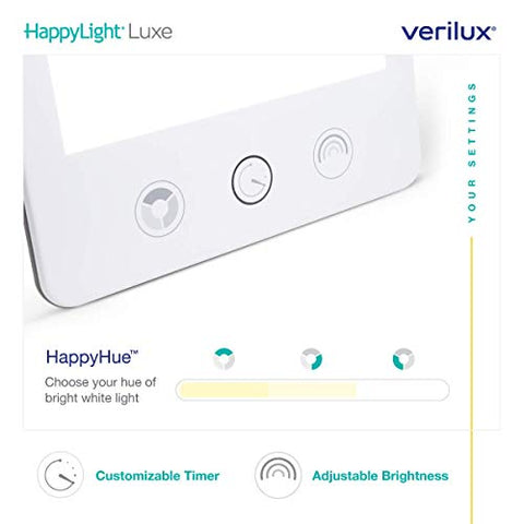 Verilux Happy Lightâ® Vt43 Luxe 10,000 Lux Led Bright White Light Therapy Lamp With Adjustable Bright
