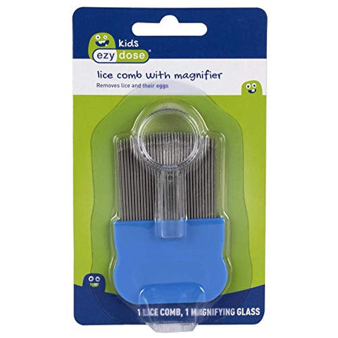 Ezy Dose Kids Lice And Eggs Comb | Hair Care For Baby, Toddler, Adult | Stainless Steel Pin Teeth