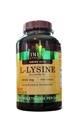 Finest Nutrition L-Lysine 1000mg, Tablet 100 ea