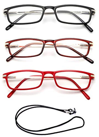 Women Reading Glasses Slim Frame Light Weight Spring Hinge Small Stylish Rectangle Fashion Reading Glasses for Women