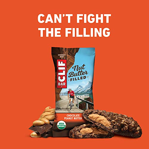 Clif Nut Butter Bar   Organic Snack Bars   Chocolate Peanut Butter   (1.76 Ounce Protein Snack Bars,