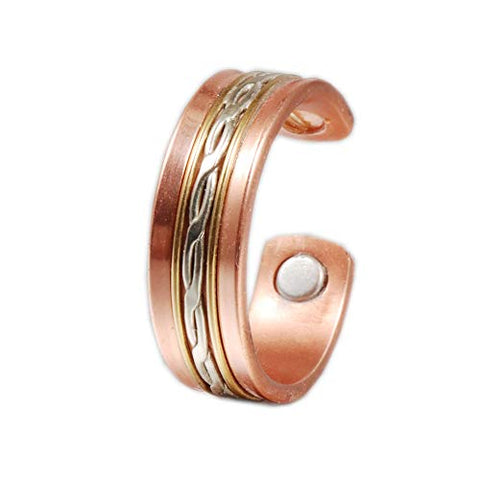 Wollet Jewelry Magnetic Copper Ring for Arthritis for Women (Women)