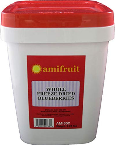 Amifruit Freeze Dried Whole Blueberries 2.25 Lbs