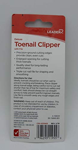LEADER Toenail Clipper Deluxe 1 ct