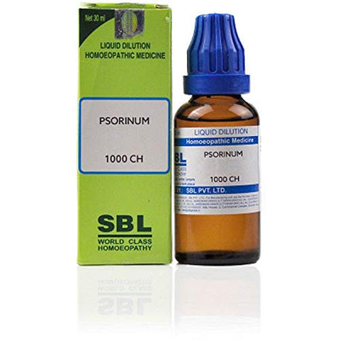 SBL Homeopathy Psorinum (30 ML) (Select Potency) by Exportmall (1000 CH (1 M))