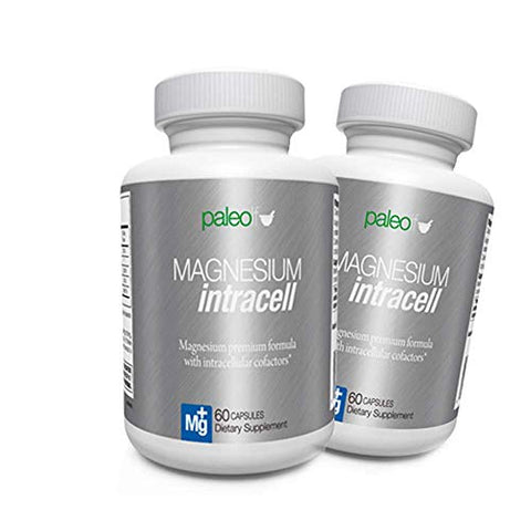 Magnesium INTRACELL - Paleo Life - High Absorption Magnesium Intracell 500 mg - Powerful Formula with Taurine, Folic Acid, Vitamin B6, B12 Vitamin (2)