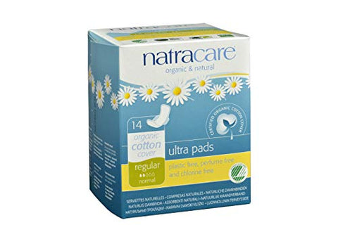 Natracare Ultra Pads w/Wings - Regular - 14 count
