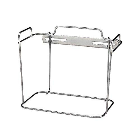 Non-Locking Wall Container Bracket, Chrome, 2 Sizes Volume: 2 Gal.