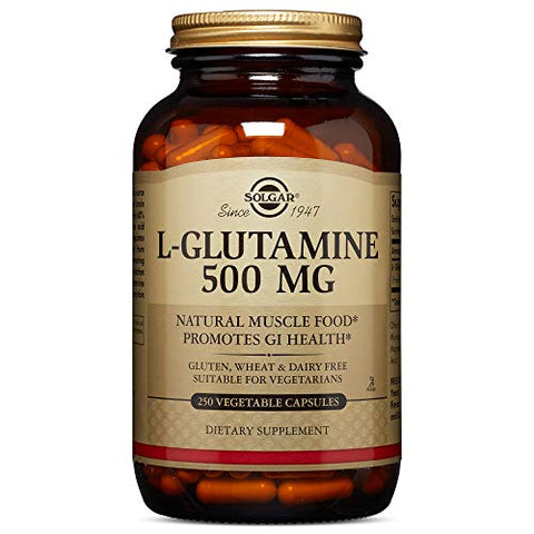 Solgar, L-Glutamine 500 mg 250 Vegetable Capsules