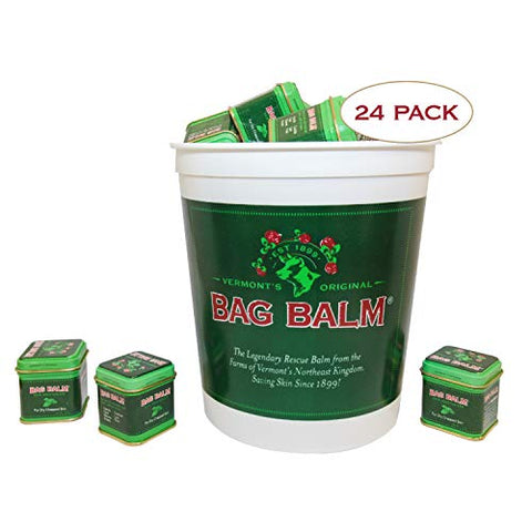 Vermont's Original Bag Balm, Skin Moisturizer for Dry Skin, Cracked Heels, Dry Elbows, Chafing, 1 oz Tins, Pack of 24