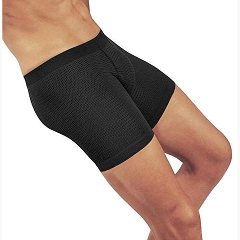 Solidea 0300A5 Active Massage 15mmHg Mens Boxer Brief-Black-XL