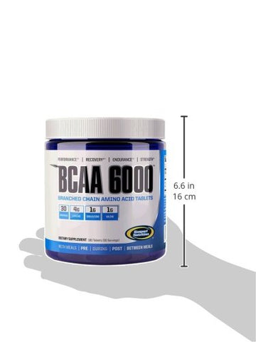 Gaspari Nutrition BCAA 6000 Tablets, 180 Count