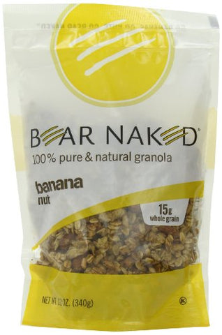 Bear Naked Banana Nut Granola - Non-GMO, Kosher, Vegetarian Friendly - 12 Oz (Pack of 6)