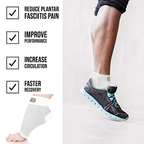 Go2 Plantar Fasciitis Socks|Best Ankle Compression Brace 22 25 Mm Hg|Arch Support Joint Heel Pain Rel