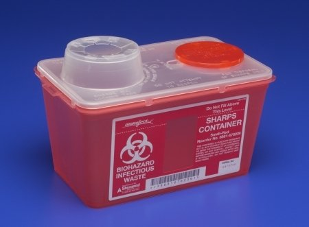 MONOJECT Chimney-Top Sharps Container - 14 Quart - Red - Each