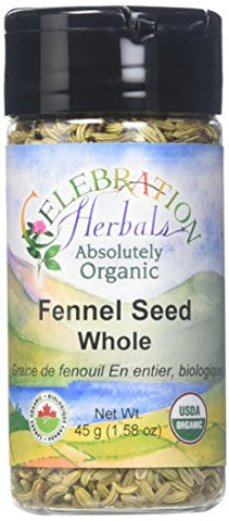 CELEBRATION HERBALS Fennel Seed Whole Organic 45 gm, 0.02 Pound