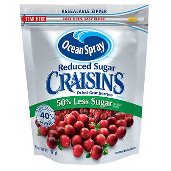 Ocean Spray Reduced Sugar Craisins, (43 oz.) x2 SA