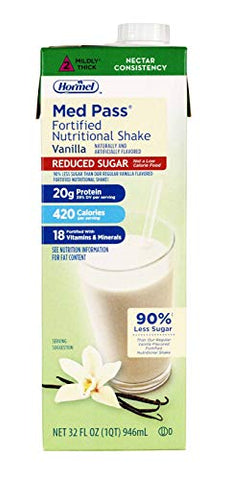 Med Pass Reduced Sugar Vanilla Flavor 32 oz. Carton Ready to Use, 22649 - ONE Carton