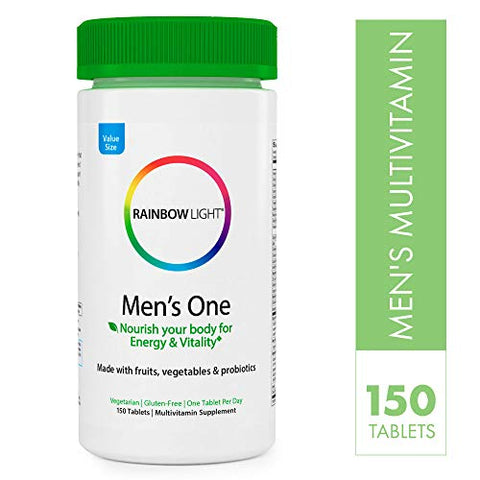 Rainbow Light Men's One Multivitamin, Once Daily Nutritional Support For Men's Health, 150 Count (Pa
