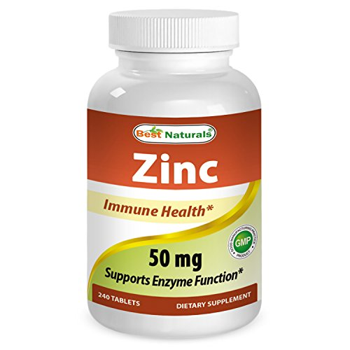Best Naturals Zinc Supplement As Zinc Gluconate 50mg 240 Tablets   Immune Support