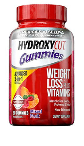 Weight Loss Gummies for Women & Men | Hydroxycut Caffeine-Free Weight Loss Gummy | Non-Stim Weight Loss Supplement | Metabolism Booster for Weight Loss | Weightloss for Women and Men | 90 Count