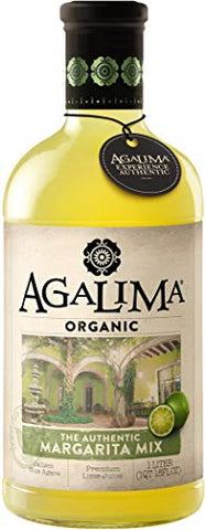 Agalima Organic Authenic Margarita Drink Mix, All Natural, 1 Liter (18 Fl Oz) Glass Bottle, Individually Boxed