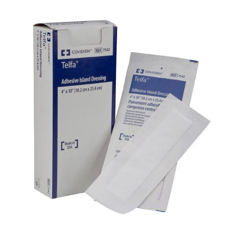Telfa Adhesive Dressing 6 X 6 Inch NonWoven Square White Sterile, 7551 - Sold by: Pack of One