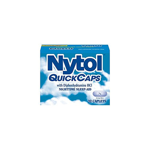 Nytol Nighttime Sleep Aid Quick Caps with Diphenhydramine HCl 25 mg | 32 Caplets