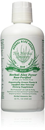 Herbal Answers Herbal Aloe Force Aloe Vera and Herbal Dietary Supplement, 32 fl oz