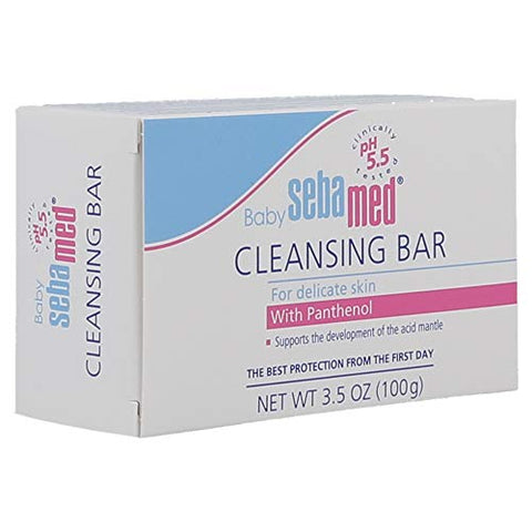 Sebamed Baby Ultra Mild Cleansing Bar - Hypoallergenic Non-irritating Cleanser with Vitamins and Amino Acids 3.5 Ounces (100g) (1)