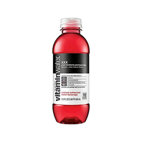 Vitaminwater Bottles XXX, 16.9 Ounce, Pack of 24