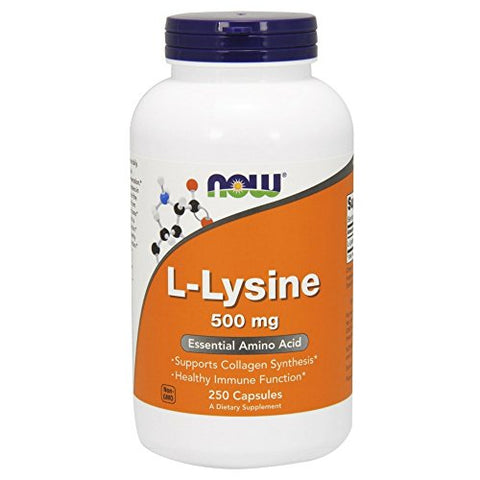 NOW  L-lysine 500 mg, 250 Capsules