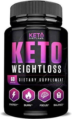 Keto Diet Labs - Keto Weight Loss - 60ct - Keto Pills for Keto Boost and Instant Keto - Ketogenic Diet Supplements for Men and Women - Keto Burn for Advanced Ketosis - Exogenous Ketones BHB