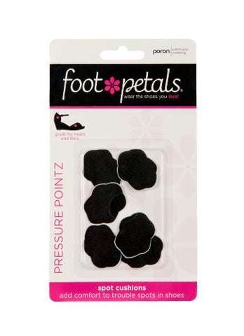 Foot Petals Pressure Pointz Spot Cushions - Blister-Preventing Foam Shoe Inserts, Set of 6