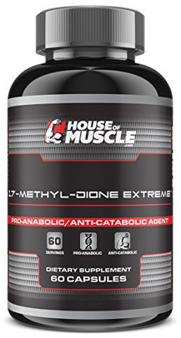 17-Methyl-Dione Extreme - Advanced Muscle Building Supplement - 60 Capsules
