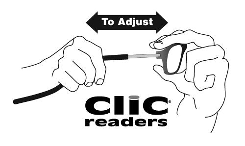 CliC Adjustable Front Connect Reader, 2.50 Strength, Tortoise Frame