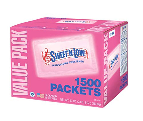 Sweet & Low sugar substitute (Case of 1500)