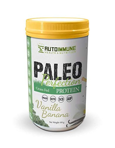 Autoimmune Health - Paleo AIP Protein Powder | Grass-fed Beef Collagen | Vanilla Banana Flavor | 1 Pound 30 Servings